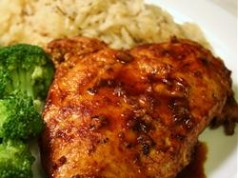 Chicken in Red Wine Sauce