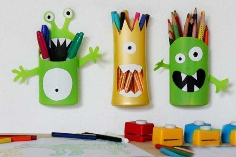 Shampoo Bottle Pencil Holder