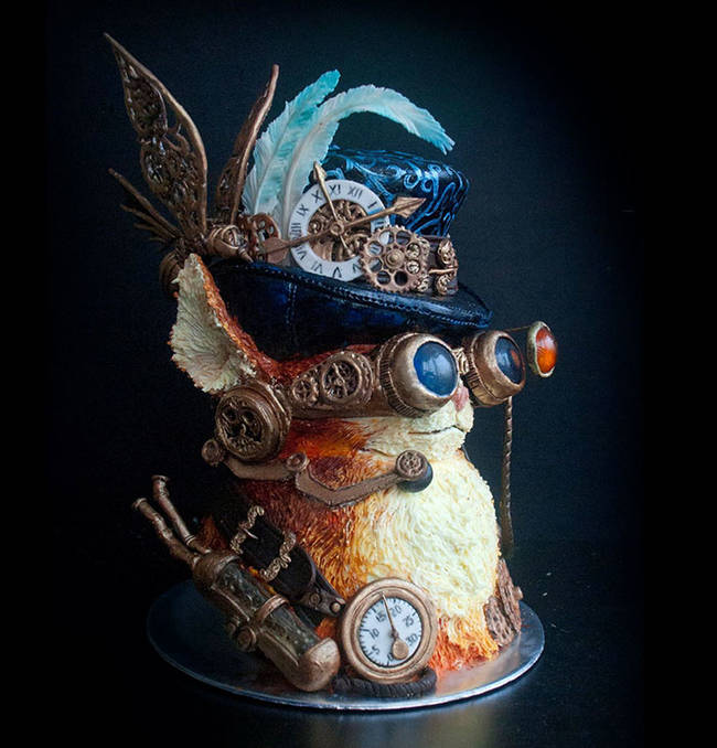 Steam-Punk Cat Cake by Yenna Susanty