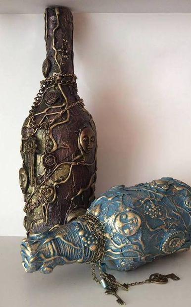 DIY antique bottle out of waste