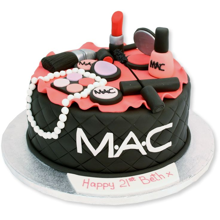 Adorable Makeup Cake