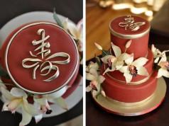 Chinese Longevity Birthday Cake