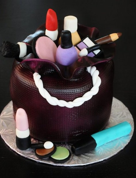 Makeup Kit Cake Designs
