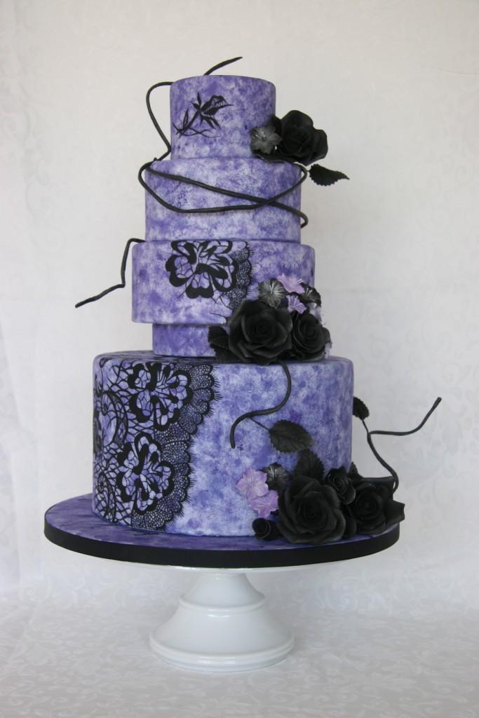 Christian Lacroix Inspired Wedding Cake