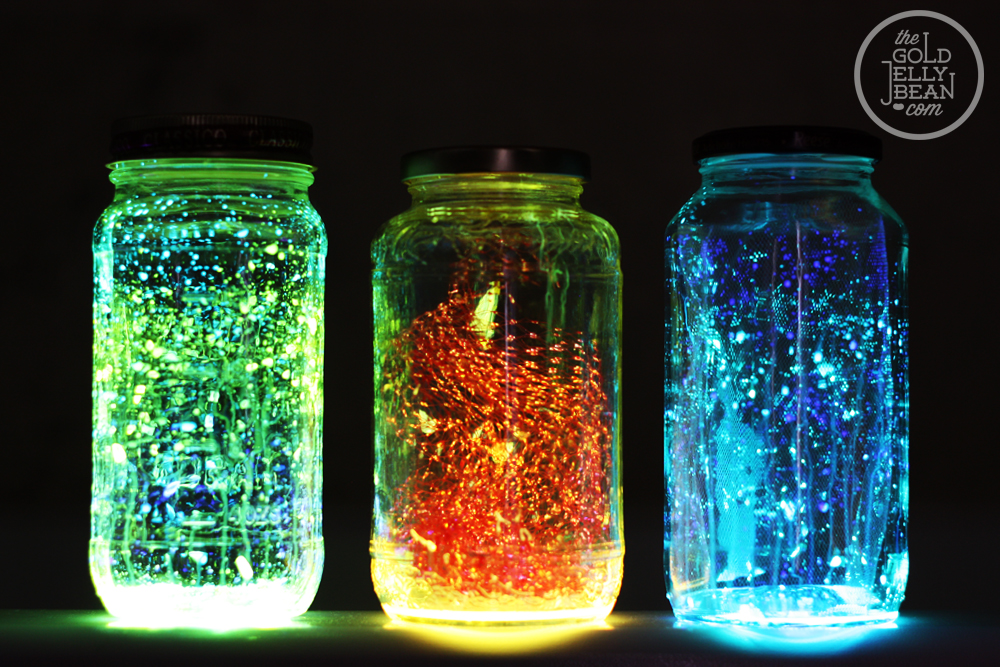 DIY Super Cool Glow in the Dark Jars