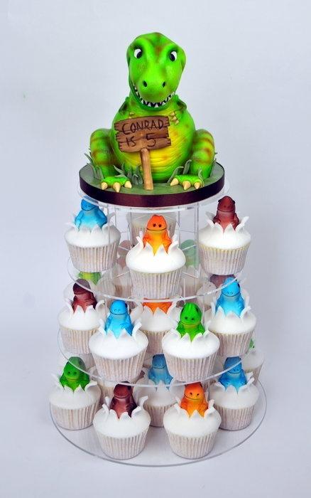 Dinosaur Cupcake Tower