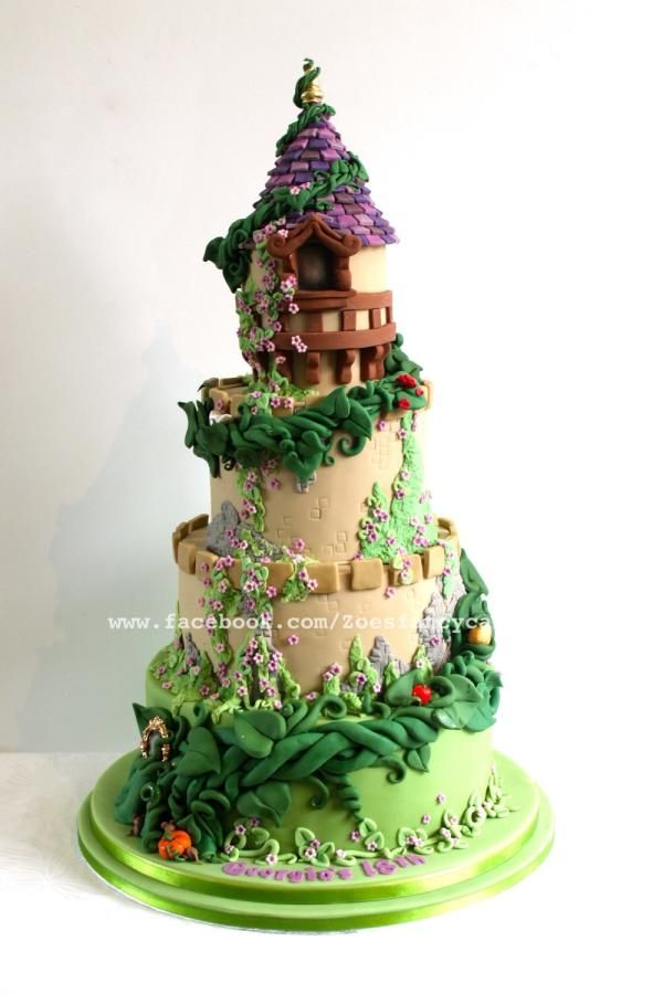 Fairy Tale Castle Cake With Beanstalk