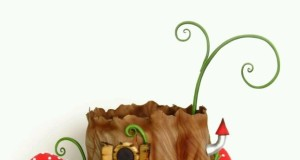 Fairy Tree House Cake