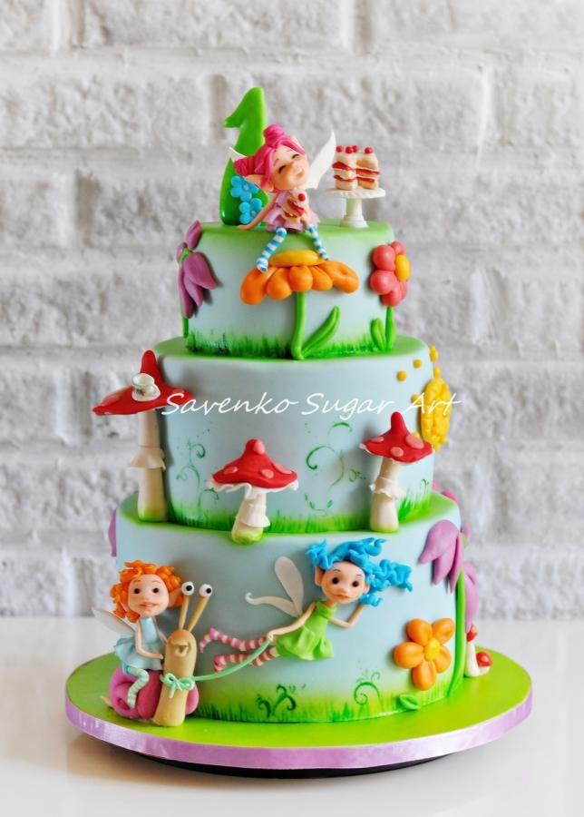 Garden Fairies Rush to a Birthday