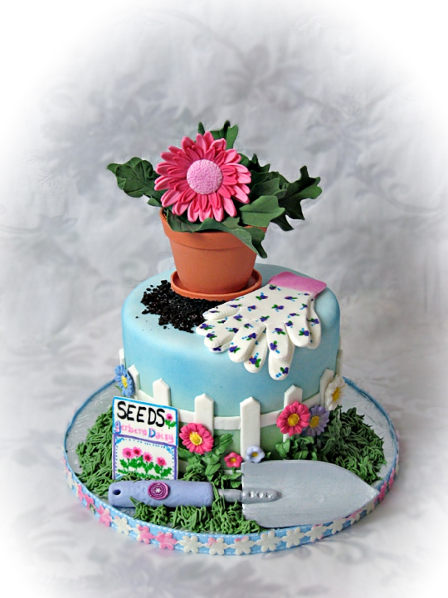 images of cakes with garden theme - photo #40