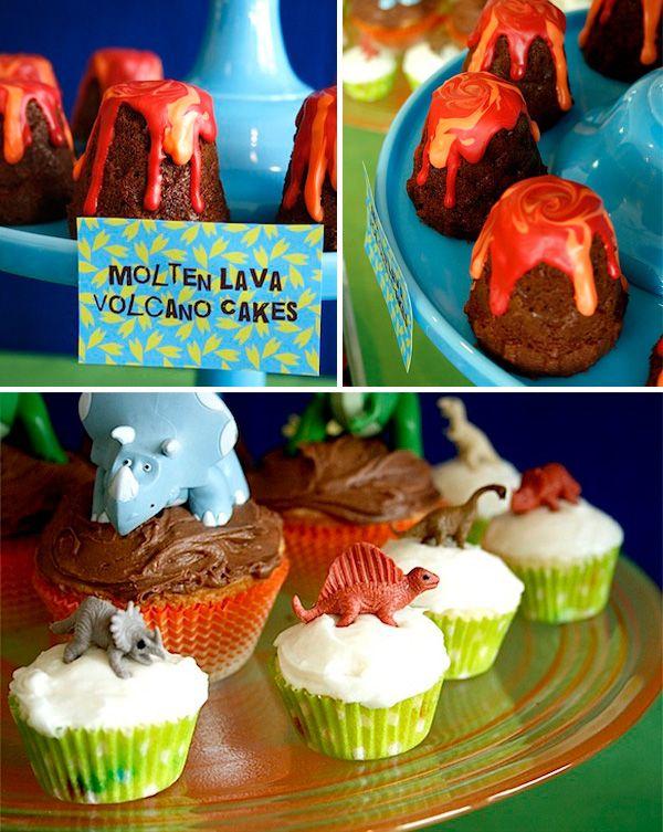 Molten Lava Volcano Cakes