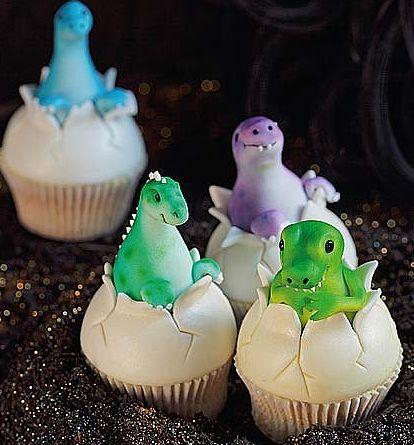 Newly Hatch Dinosaur Cupcakes