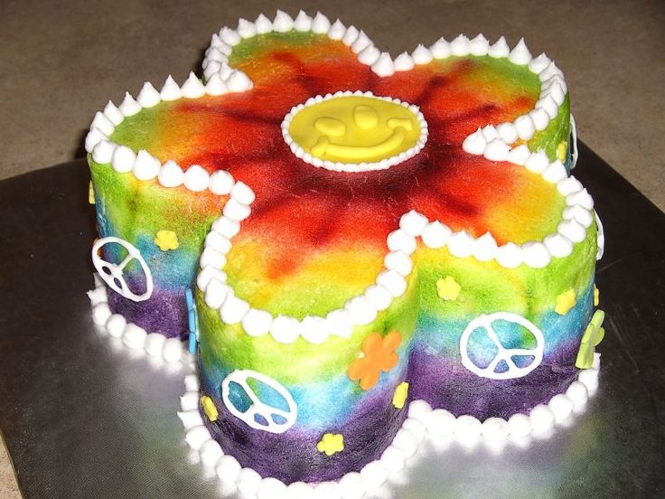 Rainbow Tie-Dye Surprise Cake