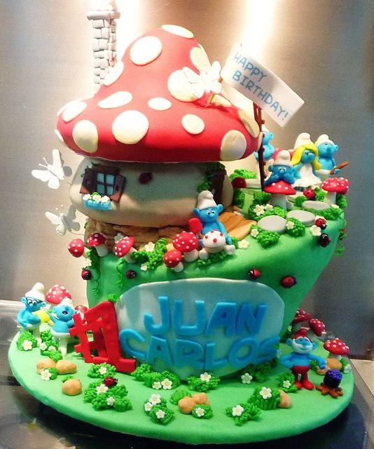 Smurf Cake