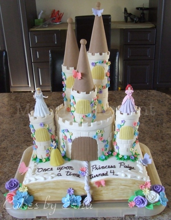 Story Book with Castle Cake