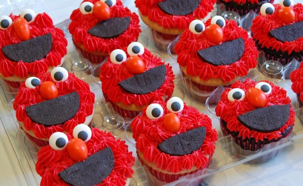 Elmo Cupcakes