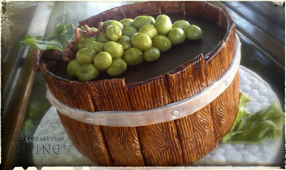 3D Barrel of Grapes