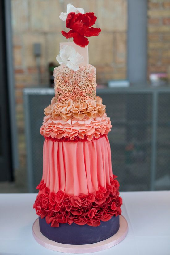 Amazing Pink Wedding Cake