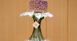 Calla Lily Wedding Cake 4 Tier Cake