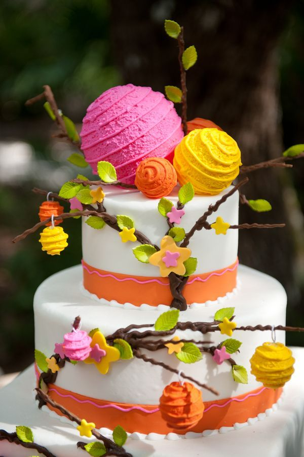Colorful Hanging Lanterns Cake
