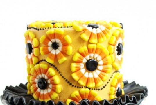 Cute Candy Corn Flower Cake