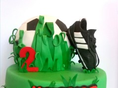 Football with the Best Shoes Cake