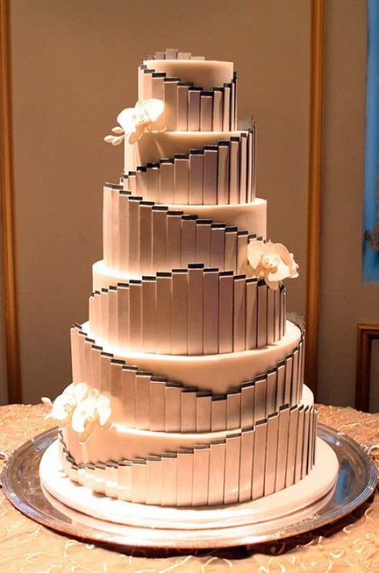 Gatsby-Themed Wedding Cake