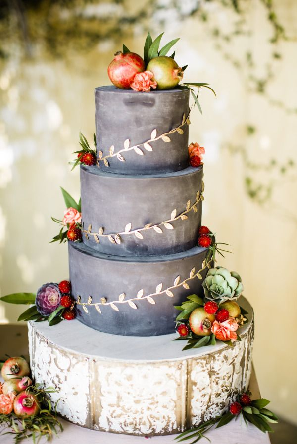 Gray Pastel Wedding Cake