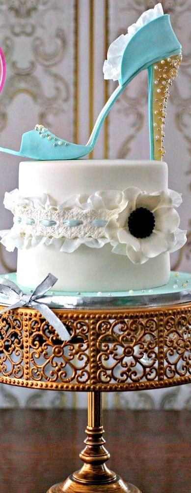 High Heel and Garter Cake