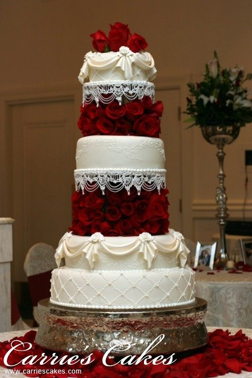 wedding cakes with red roses and bling top 20 most wedding cakes page 8 of 20 26098