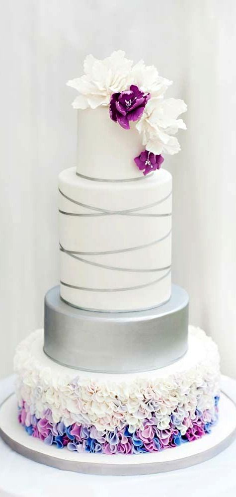 wedding cake silver ribbon top 15 prettiest wedding cakes page 13 of 15 24552