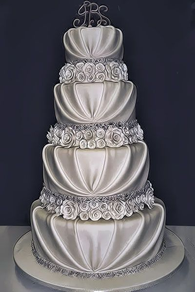 Beautiful Wedding Cake Toppers Silver