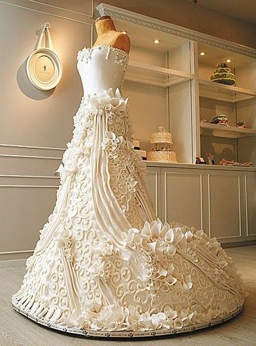 Stunning Wedding Dress Cake