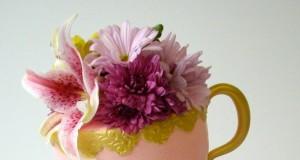 Topsy Turvy Teacups Cake