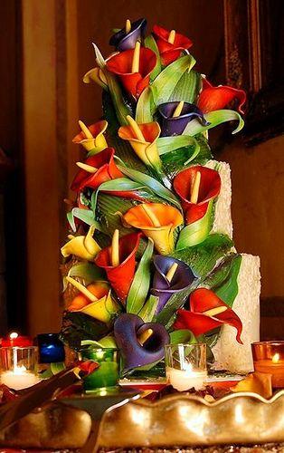 Very Bright Calla Lilies Cake