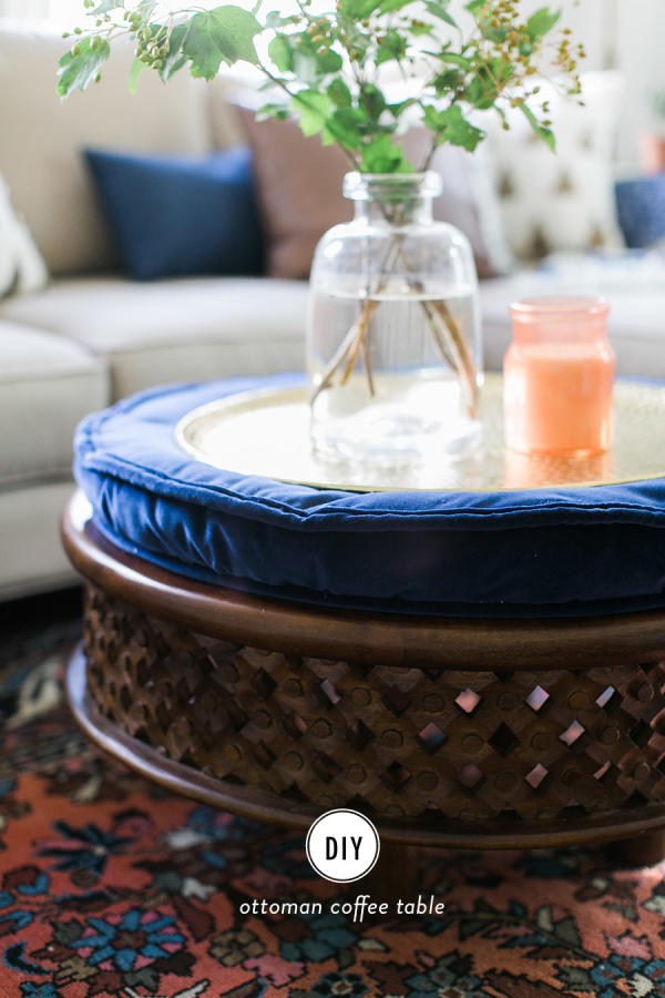 DIY Ottoman Coffee Table
